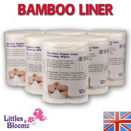 Környezetbarát bambusz betét 100 db (kakifogó)