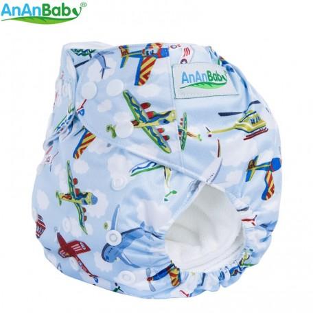Zsebes, egyméretes mosható pelenka (AnAnBaby)