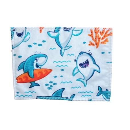 Mosható popsitörlő cápás frottír