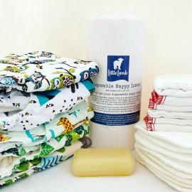 Mosható pelenka napi készlet - vegyes csomag