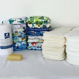 Mosható pelenka teljes készlet - BAMBUSZ csomag
